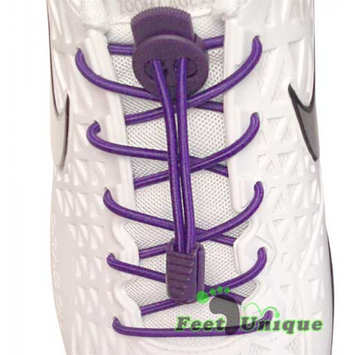 Elastic lock purple shoelaces