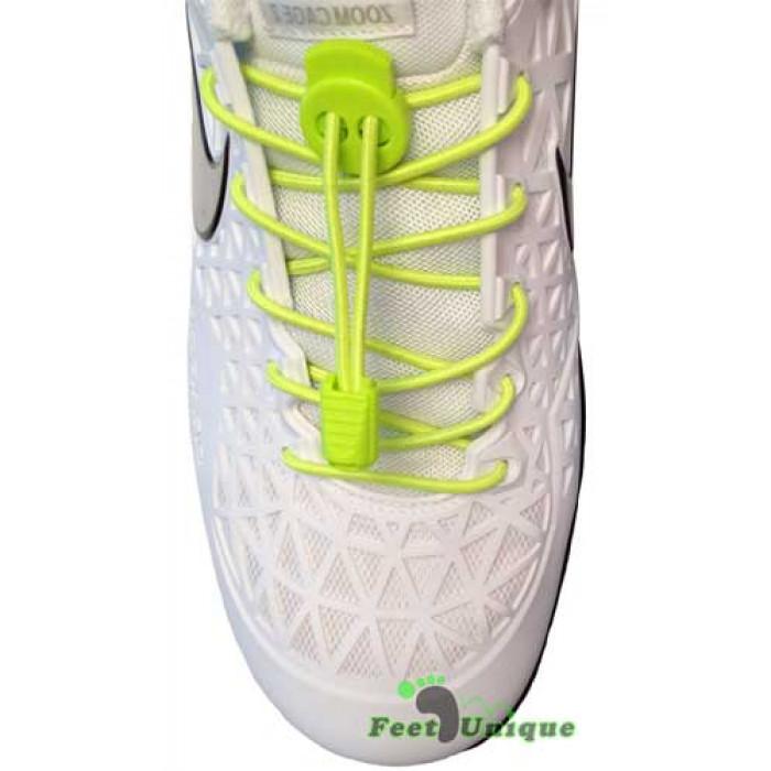 Elastic lock neon yellow shoelaces