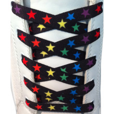 Colorful stars shoelaces