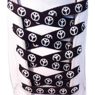 Peace black shoelaces