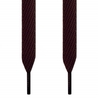 Extra wide dark brown shoelaces