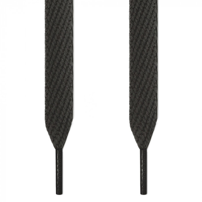 Extra wide dark gray shoelaces