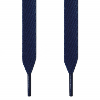 Extra wide navy blue shoelaces