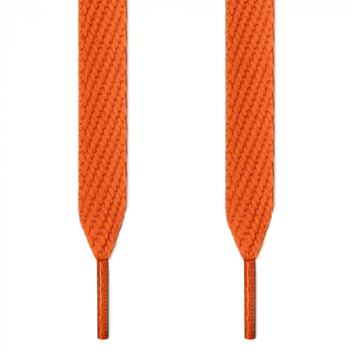 Extra wide orange shoelaces