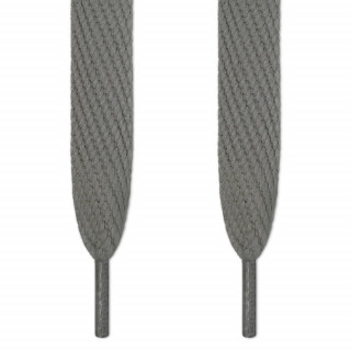 Super wide dark gray shoelaces