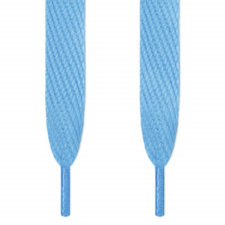 Super wide light blue shoelaces