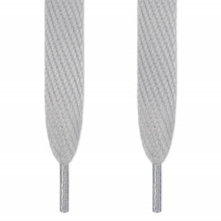 Super wide light gray shoelaces