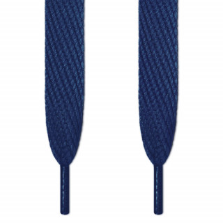 Super wide navy blue shoelaces