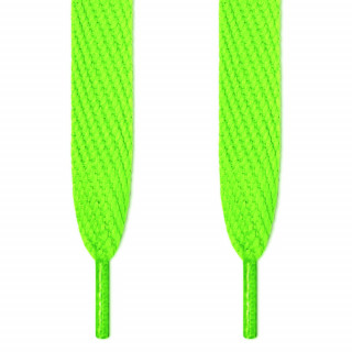 Super wide neon green shoelaces