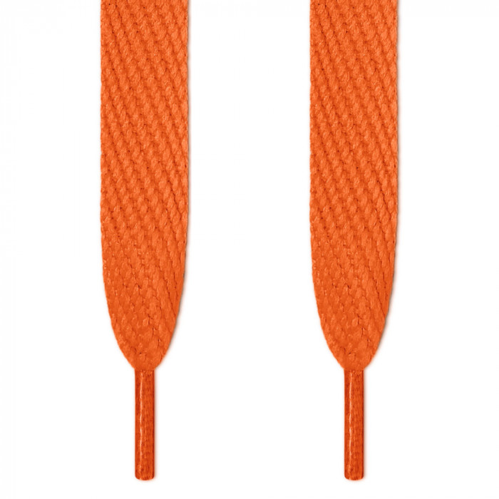 Super wide orange shoelaces