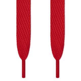 Super wide red shoelaces