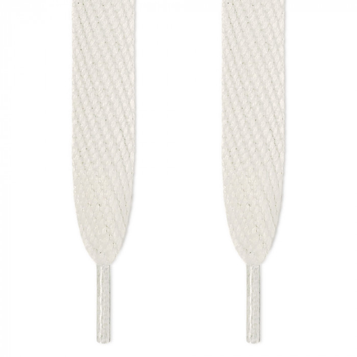 Super wide white shoelaces