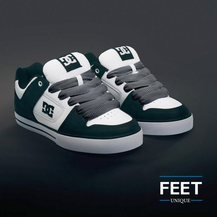 Super wide dark gray shoelaces