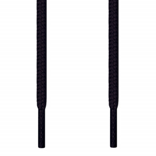Round black shoelaces