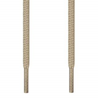 Round light brown shoelaces