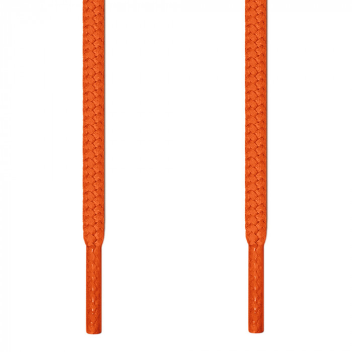 Round orange shoelaces