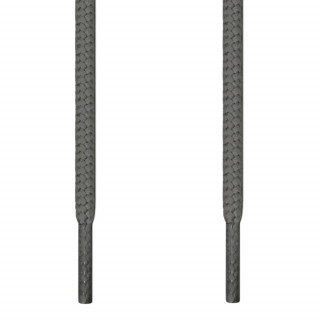 Round dark gray shoelaces