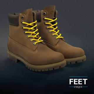 Round yellow shoelaces
