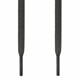 Oval dark gray shoelaces