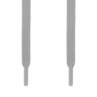 Elastic Flat Light Gray Shoelaces (No Tie)