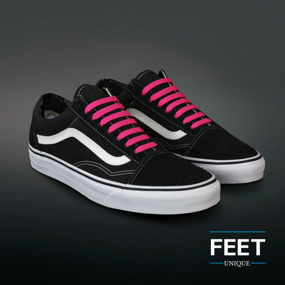 Hot Pink Silicone Shoelaces ← No tie