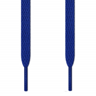 Flat blue shoelaces