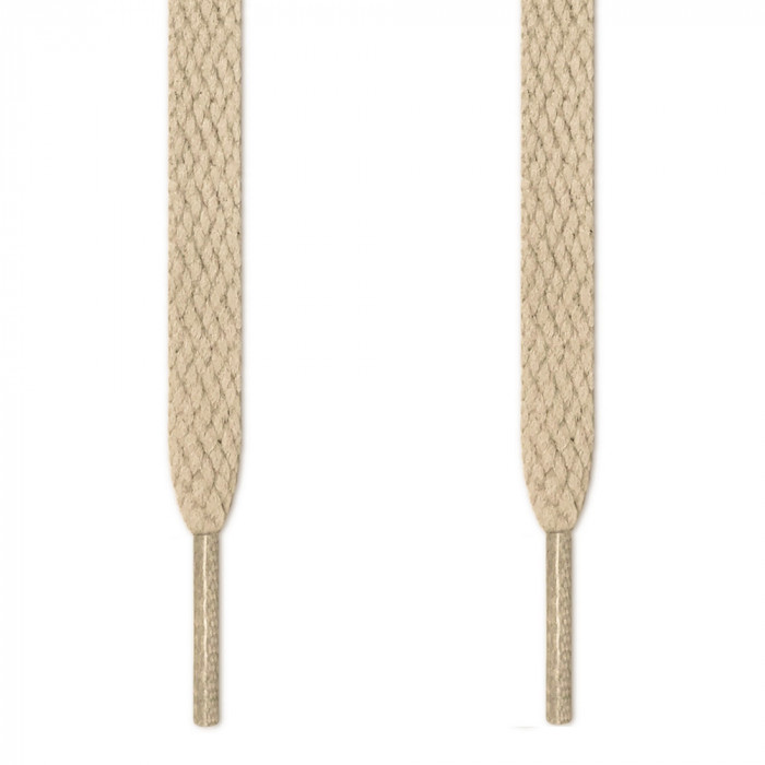 Flat light brown shoelaces