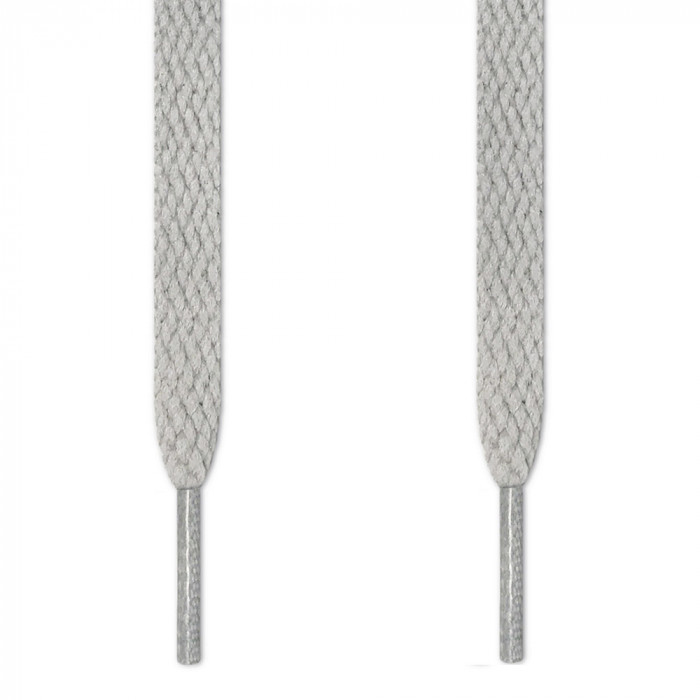Flat light gray shoelaces