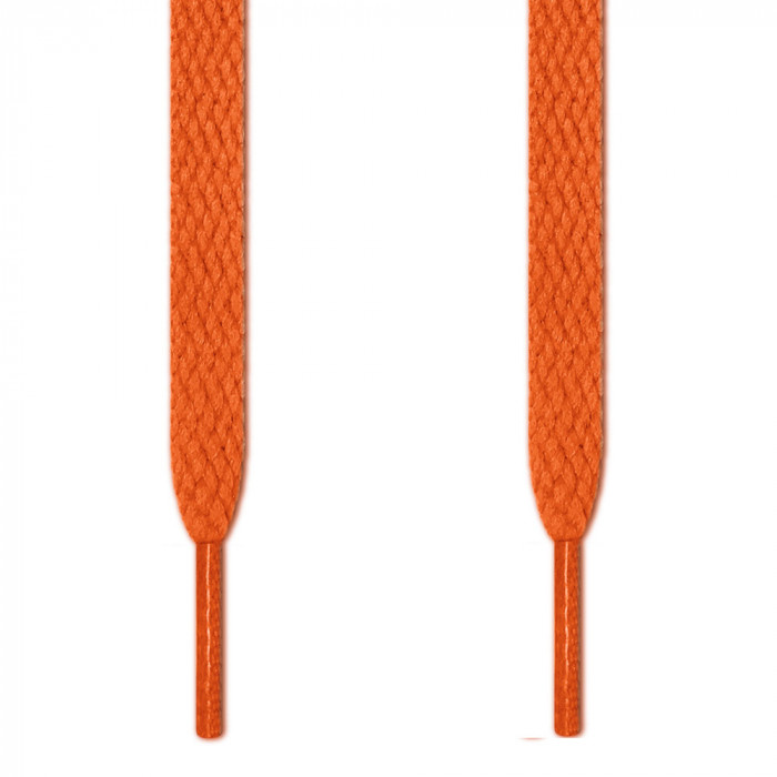 Flat orange shoelaces