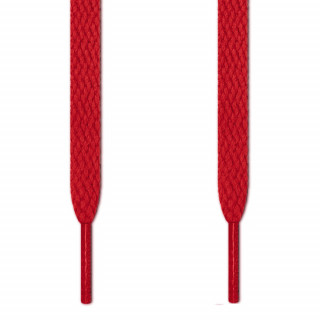 Flat red shoelaces