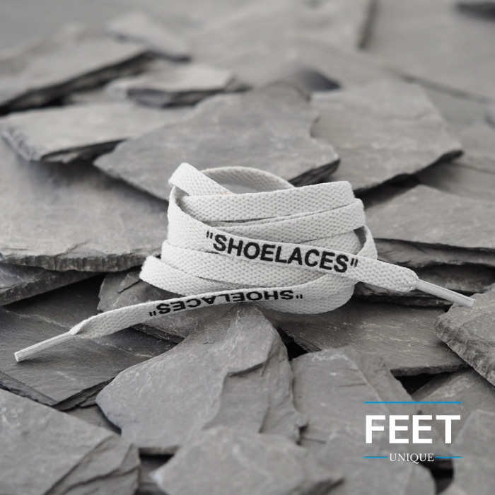 Light Gray OFF-WHITE Shoelaces