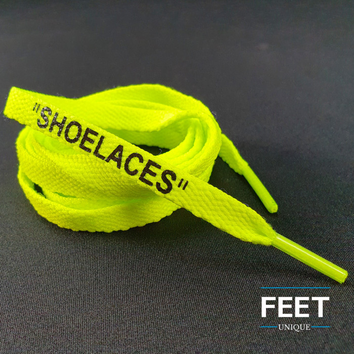 Volt Yellow OFF-WHITE Shoelaces