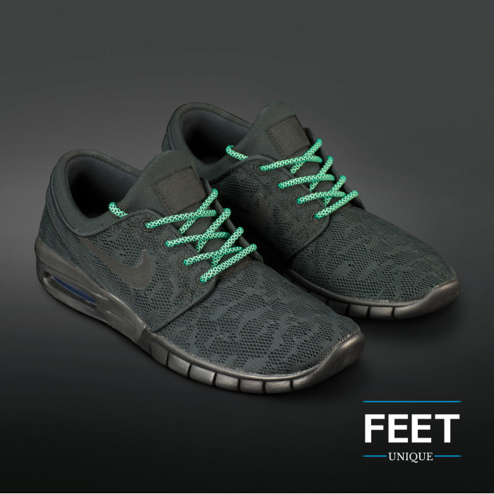 Adidas Yeezy - Rope Laces Black and Green