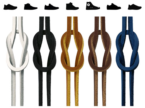 Square Leather Shoelaces